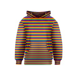 Horizontal Gay Pride Rainbow Flag Pin Stripes Kids  Pullover Hoodie