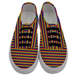 Horizontal Gay Pride Rainbow Flag Pin Stripes Men s Classic Low Top Sneakers