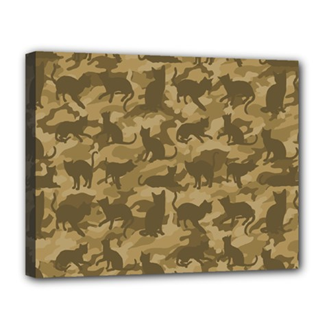 Operation Desert Cat Camouflage Catmouflage Canvas 14  X 11