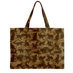 Operation Desert Cat Camouflage Catmouflage Zipper Mini Tote Bag