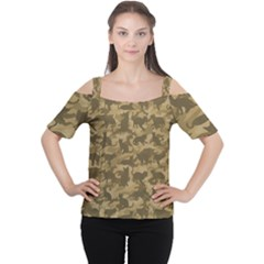 Operation Desert Cat Camouflage Catmouflage Cutout Shoulder Tee