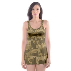 Operation Desert Cat Camouflage Catmouflage Skater Dress Swimsuit