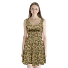Operation Desert Cat Camouflage Catmouflage Split Back Mini Dress