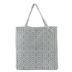 Vintage Ornate Pattern Grocery Tote Bag