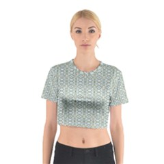 Vintage Ornate Pattern Cotton Crop Top