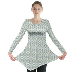 Vintage Ornate Pattern Long Sleeve Tunic