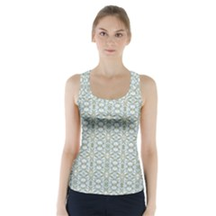 Vintage Ornate Pattern Racer Back Sports Top