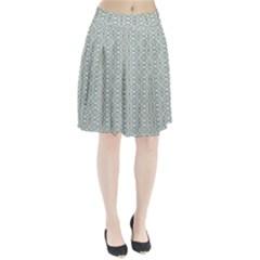 Vintage Ornate Pattern Pleated Skirt