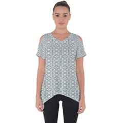 Vintage Ornate Pattern Cut Out Side Drop Tee