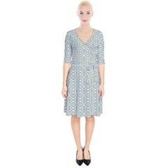 Vintage Ornate Pattern Wrap Up Cocktail Dress