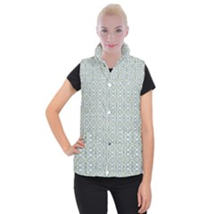 Vintage Ornate Pattern Women s Button Up Puffer Vest