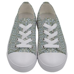 Vintage Ornate Pattern Kids  Low Top Canvas Sneakers