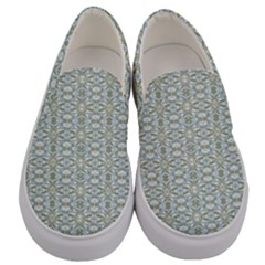 Vintage Ornate Pattern Men s Canvas Slip Ons