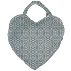 Vintage Ornate Pattern Giant Heart Shaped Tote