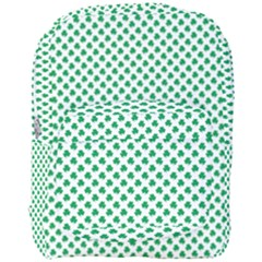 Green Shamrock Clover On White St  Patrick s Day Full Print Backpack