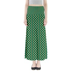 Irish Flag Green White Orange On Green St  Patrick s Day Ireland Full Length Maxi Skirt