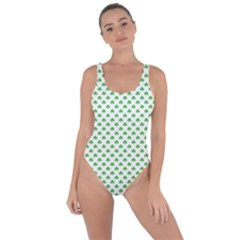 Green Heart Shaped Clover On White St  Patrick s Day Bring Sexy Back Swimsuit