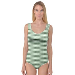 Shamrock 2 Tone Green On White St Patrick?¯s Day Clover Princess Tank Leotard