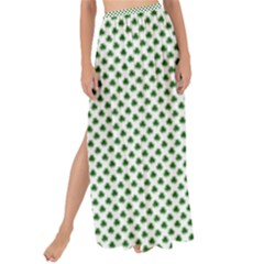 Shamrock 2 Tone Green On White St Patrick's Day Clover Maxi Chiffon Tie Up Sarong