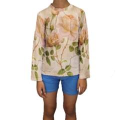 Rose Flower 2507641 1920 Kids  Long Sleeve Swimwear