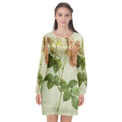 Peony 2507643 1920 Long Sleeve Chiffon Shift Dress