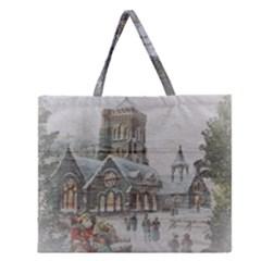 Santa Claus 1845749 1920 Zipper Large Tote Bag