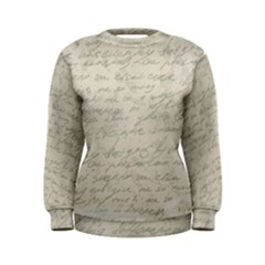 Handwritten Letter 2 Women s Sweatshirt