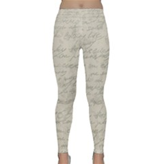 Handwritten Letter 2 Classic Yoga Leggings