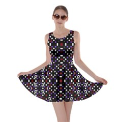 Futuristic Geometric Pattern Skater Dress