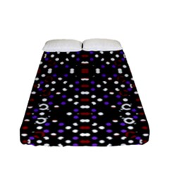 Futuristic Geometric Pattern Fitted Sheet (full/ Double Size)