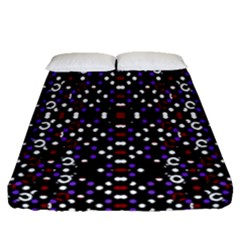 Futuristic Geometric Pattern Fitted Sheet (queen Size)