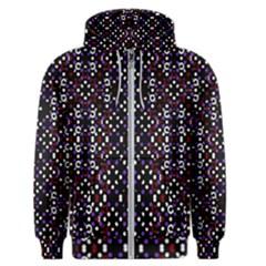 Futuristic Geometric Pattern Men s Zipper Hoodie