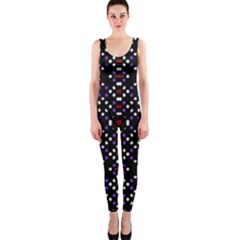 Futuristic Geometric Pattern One Piece Catsuit