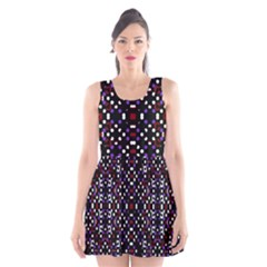 Futuristic Geometric Pattern Scoop Neck Skater Dress