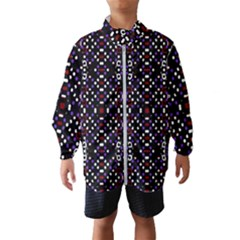 Futuristic Geometric Pattern Wind Breaker (kids)