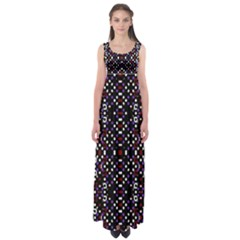 Futuristic Geometric Pattern Empire Waist Maxi Dress