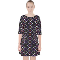 Futuristic Geometric Pattern Pocket Dress