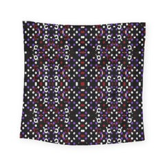 Futuristic Geometric Pattern Square Tapestry (small)