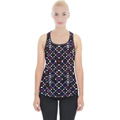 Futuristic Geometric Pattern Piece Up Tank Top