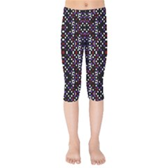 Futuristic Geometric Pattern Kids  Capri Leggings