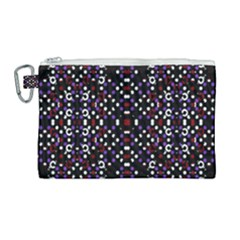 Futuristic Geometric Pattern Canvas Cosmetic Bag (large)