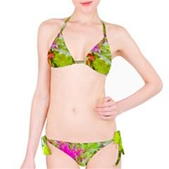 Colored Plants Photo Bikini Set
