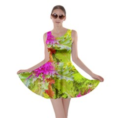 Colored Plants Photo Skater Dress