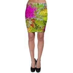 Colored Plants Photo Bodycon Skirt