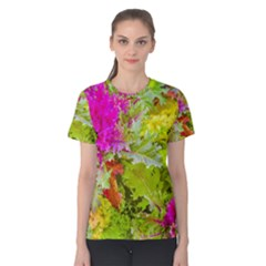 Colored Plants Photo Women s Cotton Tee