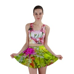 Colored Plants Photo Mini Skirt