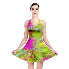 Colored Plants Photo Reversible Skater Dress