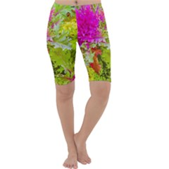 Colored Plants Photo Cropped Leggings