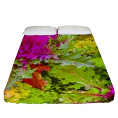 Colored Plants Photo Fitted Sheet (california King Size)