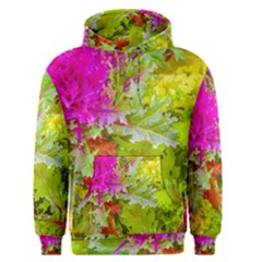 Colored Plants Photo Men s Pullover Hoodie